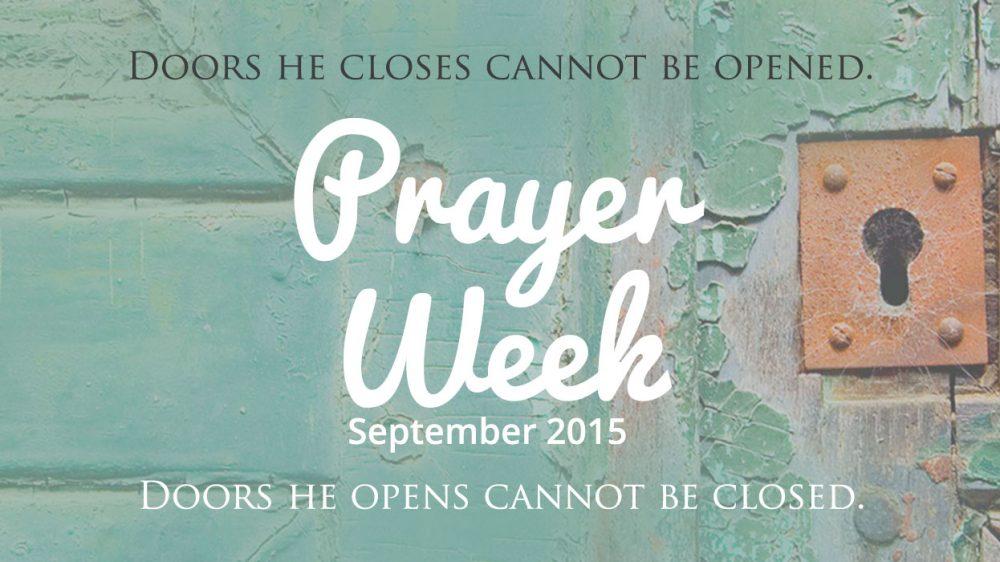 Prayer Week – September 2015