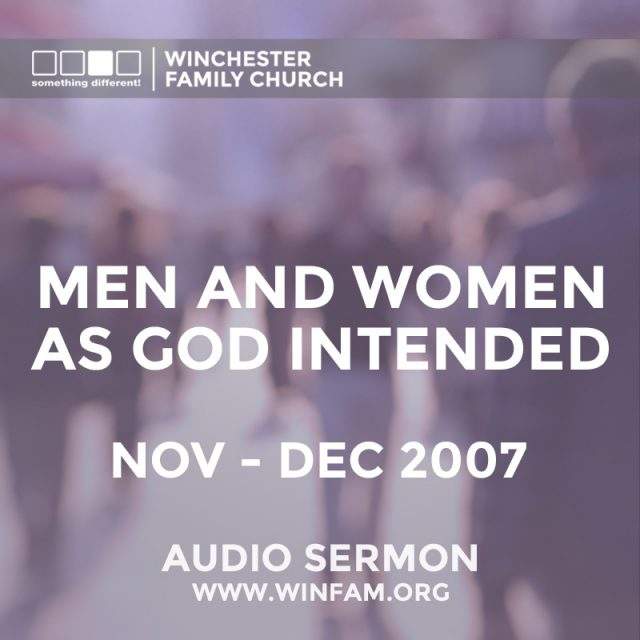 Men and Women as God Intended