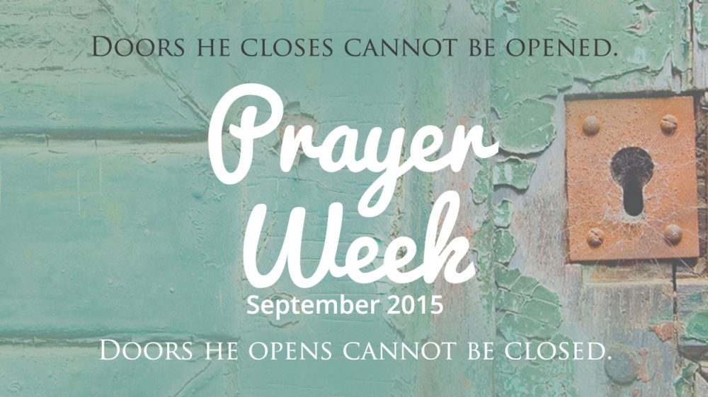 Prayer Week – September 2015